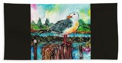 Happy Seagull Perch Beach Sheet