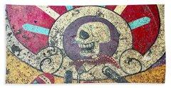 Happy Skull Beach Towel