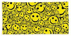 Happy Smiley Faces Beach Sheet