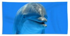 Happy Smiling Dolphin Beach Towel