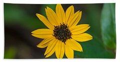 Happy Sunflower Beach Towel by Kenneth Albin