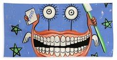 Happy Teeth Beach Sheet