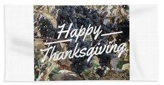 Happy Thanksgiving Beach Sheet