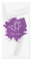 Happy The Crab - Purple Beach Towel