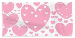 'just Hearts' Beach Towel