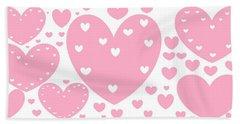 'just Hearts' Beach Sheet by Linda Velasquez
