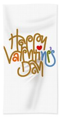 Happy Valentine's Day Poster Beach Sheet