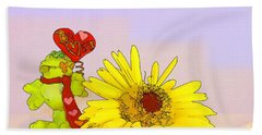 Happy Valentine's Day Beach Sheet by Teresa Zieba