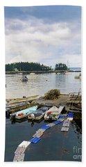 Harbor At Georgetown Five Islands, Georgetown, Maine #60550 Beach Towel