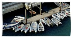 Harbor Boats Beach Towel