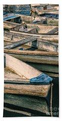 Harbor Boats Beach Towel