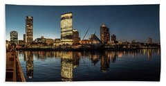 Beach Towel featuring the photograph Harbor House View by Randy Scherkenbach