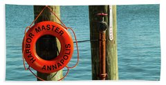 Harbor Life Preserver Beach Towel