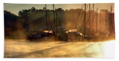 Beach Towel featuring the photograph Harbor Mist by Brian Wallace