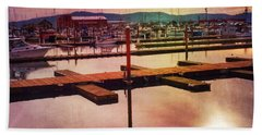 Beach Towel featuring the photograph Harbor Mood by Chriss Pagani