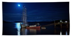 Harbor Moon Beach Towel