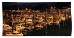 Harbor Night Beach Towel