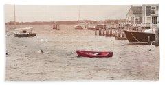 Harbor Red Beach Towel