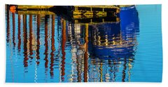 Harbor Reflections Beach Towel by Garry Gay