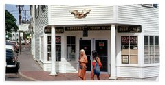 Harborside Liquor Store, Car, Marthas Vineyard, Massachusetts, 1 Beach Towel by Wernher Krutein