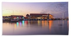 Beach Sheet featuring the photograph Harbour Lights, Hillarys Boat Harbour by Dave Catley