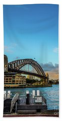 Beach Towel featuring the photograph Harbour Sky by Perry Webster
