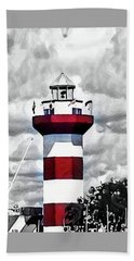 Beach Towel featuring the photograph Harbour Town Lighthouse by Tara Potts