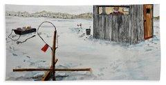 Hard Water Fishing Beach Towel