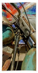 Beach Sheet featuring the photograph Harley Davidson - American Icon II by Bill Gallagher