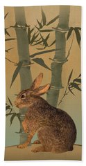 Hare Under Bamboo Tree Beach Sheet