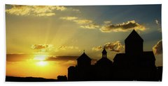 Harichavank Monastery At Sunset, Armenia Beach Towel