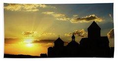 Harichavank Monastery At Sunset, Armenia Beach Towel by Gurgen Bakhshetsyan