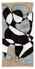 Harlequin Abtracted Beach Towel