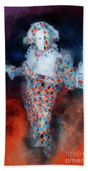 Harlequin Beach Towel by Jack Torcello
