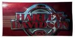 Harley Davidson 12 Beach Towel