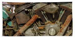 Beach Sheet featuring the photograph Harley Davidson - An American Icon by Bill Gallagher