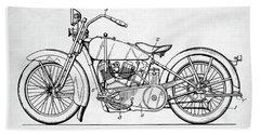 Harley Davidson Patent Beach Sheet by Taylan Apukovska