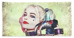 Harley Is A Crazy Woman Beach Towel by Anton Kalinichev