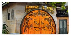 Beach Towel featuring the photograph Harmony Chapel Harmony California by Barbara Snyder