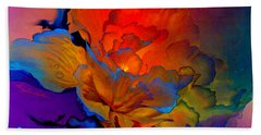 Beach Towel featuring the painting Harmony by Hanne Lore Koehler