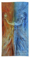 Beach Towel featuring the painting Harmony by Jane See