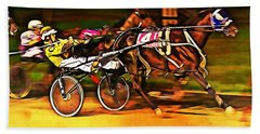 Harness Race #2 Beach Towel