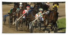 Harness Racing 9 Beach Towel