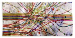 Beach Towel featuring the digital art Harnessing Energy 1 by Angelina Vick