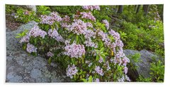 Harriman Pink And White Mountain Laurel Beach Sheet