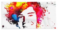 Harry Styles Paint Splatter Beach Towel