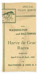 Harve De Grace Races Beach Towel