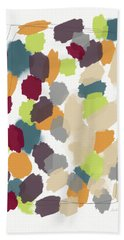 Harvest Day- Abstract Art By Linda Woods Beach Towel