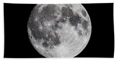 Beach Towel featuring the photograph Harvest Moon At 99 Pct. Waxing Gibbous by Ricky L Jones