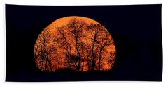 Harvest  Moon Rising Beach Towel